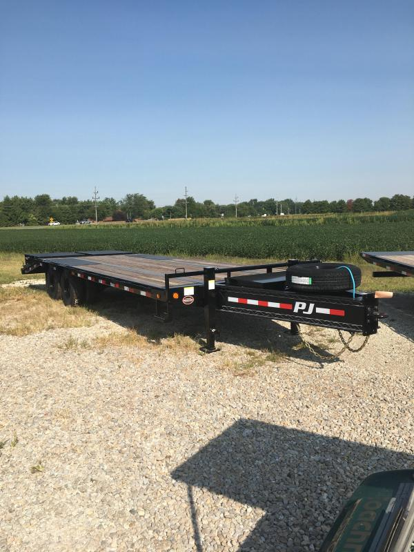 2021 102x25(20+5' Dovetail) PJ Trailers LD Low-Pro Pintle with Duals Trailer - w/ 5' Monster Ramps (GVW: 25000)