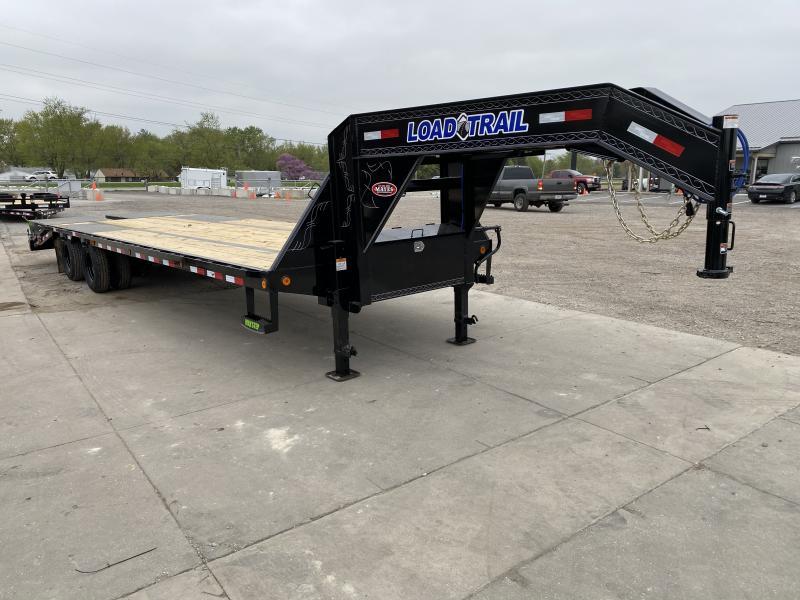 2021 Load Trail GP0230102 Equipment Trailer -  102x30 (25+5) TA Gooseneck - Max Ramps - Max Steps - Toolbox - Winch Plate - Self Clean Dovetail (GVW:  24000)