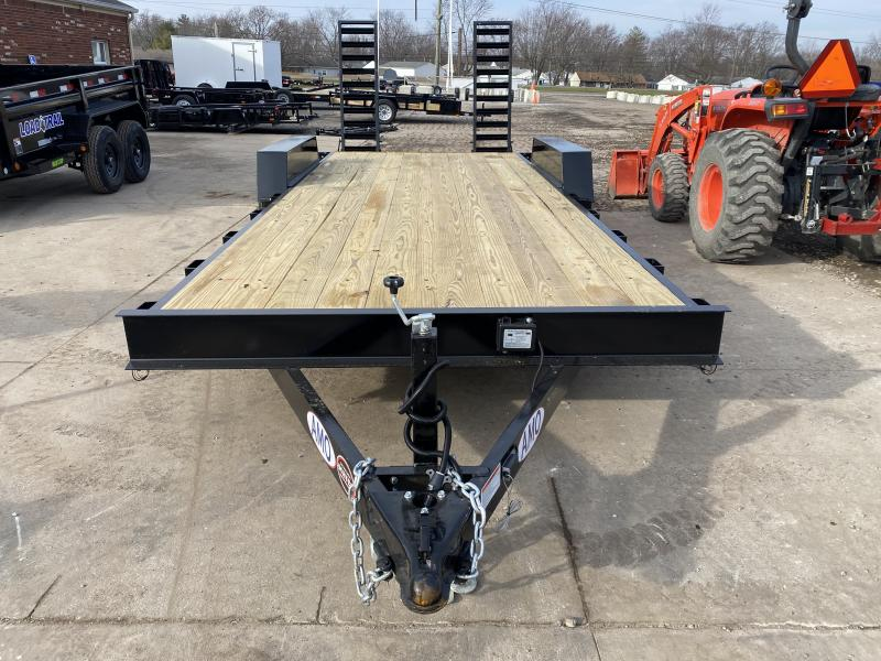 2021 American Manufacturing Operations (AMO) UC202 Equipment Trailer - 82x20 (18+2) TA Equipment - Treated Wood Floor - Dovetail - Stand Up Ramps (GVW:  9990)