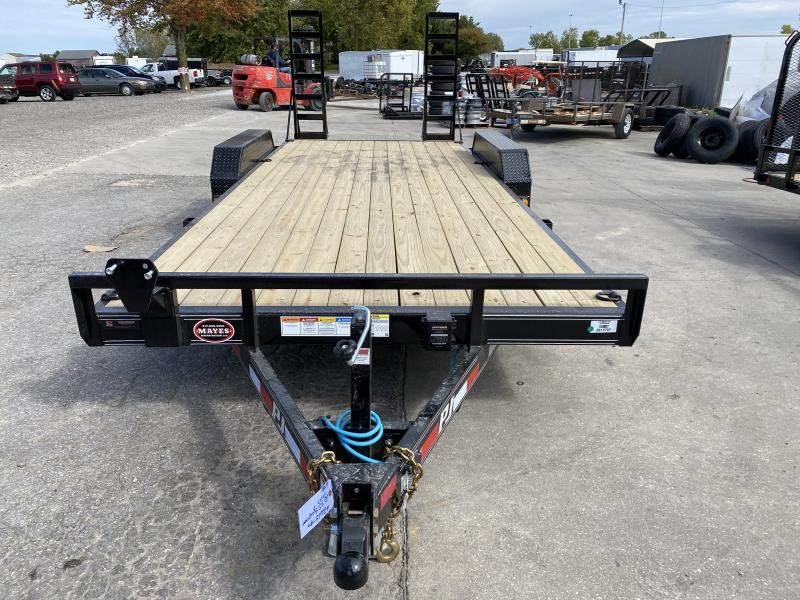 2021 PJ Trailers CE202 Equipment Trailer - 83x20 (18+2) TA - Dovetail - Fold Up Ramps (GVW:  9899)