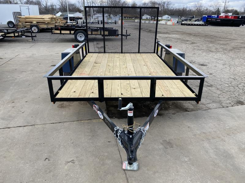 2021 American Manufacturing Operations (AMO) US101 Utility Trailer - 76x10 SAUT - Treated Wood Floor - Tailgate (GVW:  2990)
