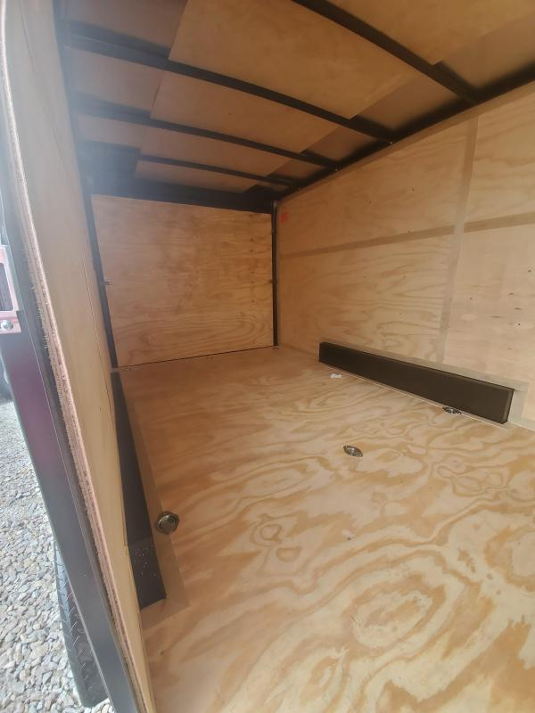 2021 Cargo Mate EHW716TA2 Enclosed Cargo Trailer - 7.5x16 TA - 6 Inch Additional Height - Slant V-Nose - Side by Side Packge - Ramp Door - Black Out Package (GVW:  7000)