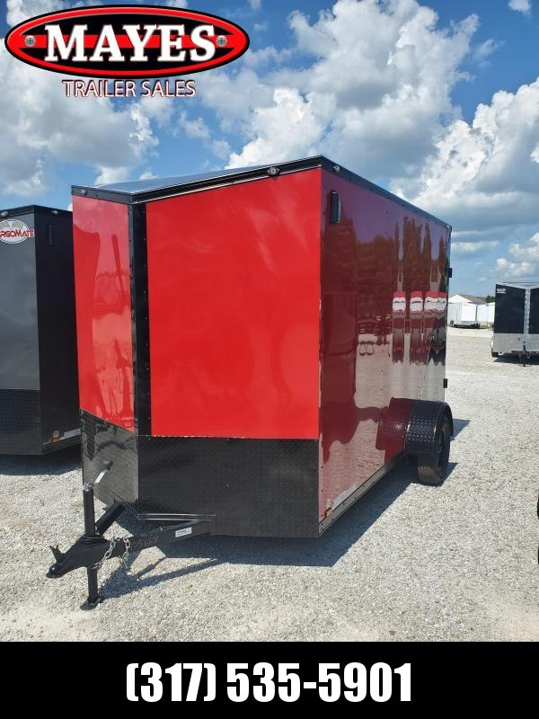 2021 Cargo Mate EHW612SA Enclosed Cargo Trailer - 6x12 SA - Side by Side Package - Two Tone - Black Out Package - Ramp Door - 12 Inch Additional Height (GVW:  2990)