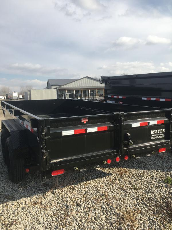 2021 PJ Trailers DG142 Dump Trailer - 83x14 TA Low Pro Dump - Split Gate - Electric Brakes (GVW:  14000)
