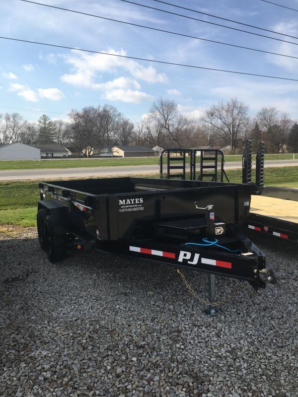 2021 PJ Trailers DG142 Dump Trailer - 83x14 TA Low Pro Dump - Split Gate - Electric Brakes (GVW:  14000)