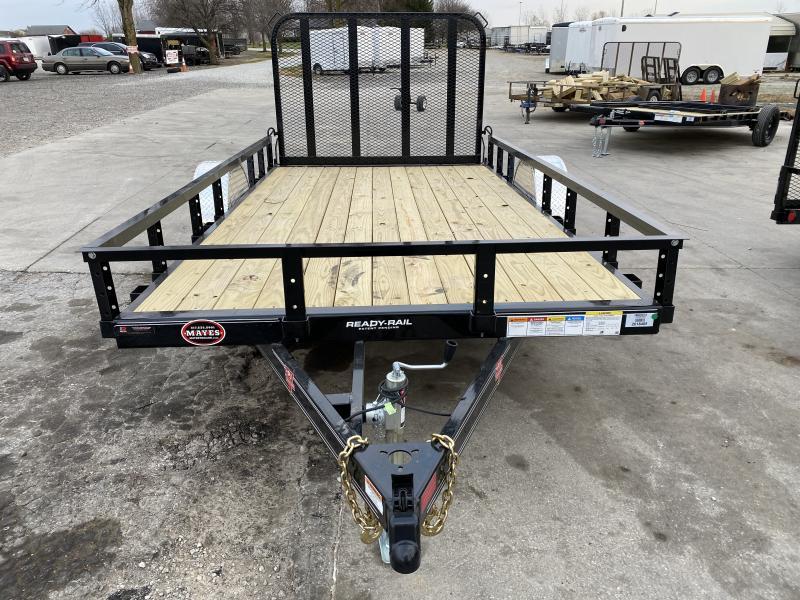 2021 PJ Trailers U7121 Utility Trailer - 77x12 SA - Straight Deck - Fold In Gate (GVW:  2995)
