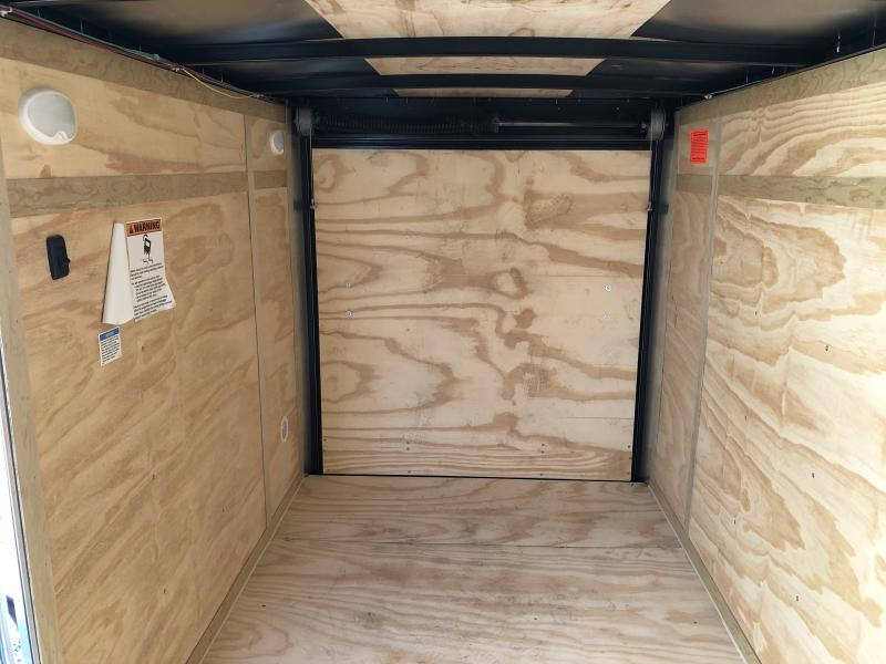 2020 5x10 SA Cargo Mate EHW510SA Enclosed Cargo Trailer - .030 Metal Upgprade  - Screwless Exterior Metal - E & V Series Pkg. #2 - Ramp Door - Slant V-Nose (GVW:  2990)