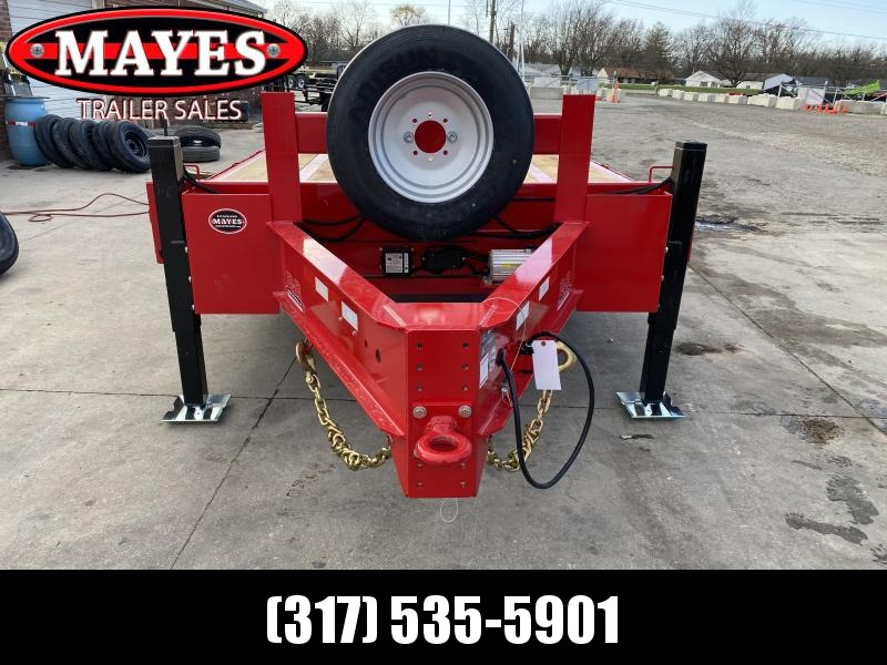 2021 B-B FB8X36PTHBT-24EH Equipment Trailer - 102x36 (26+10)  TA - Pintle - Tool Boxes - Elect. Over Hydraulic  Disc Brakes - Oak Floor - Wireless Remote (GVW:  24000)