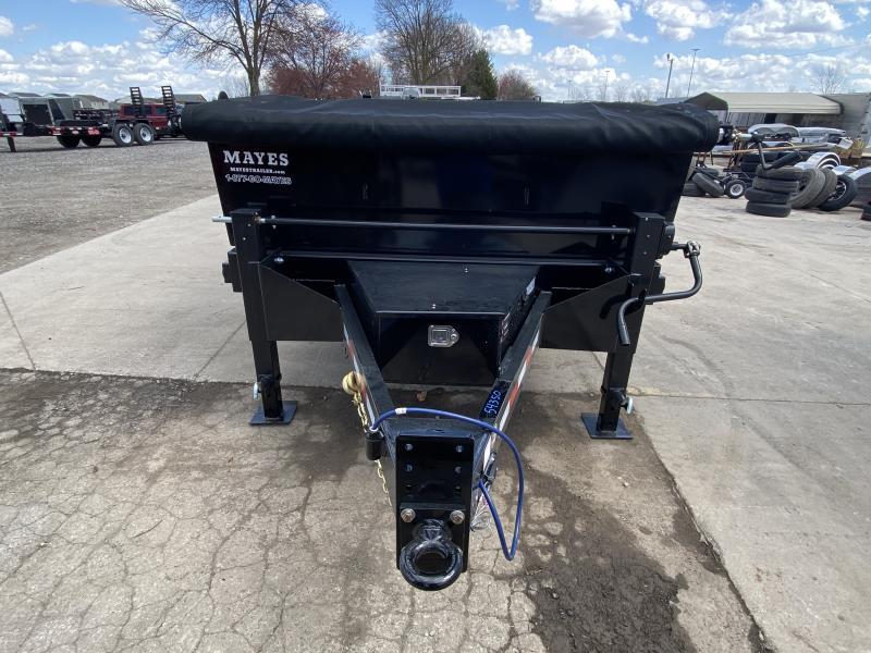 2021 B-B LPD83X16E102 Dump Trailer - 83x16 TA - Scissor Hoist - Tarp Kit - Slide-In Ramps - D-Rings (GVW:  20000)