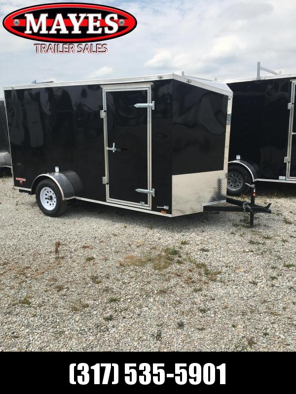 2021 Cargo Mate EHW612SA Enclosed Cargo Trailer - 6x12 SA - Ramp Door - Aluminum Roof - Slant V-Nose (GVW:  2990)