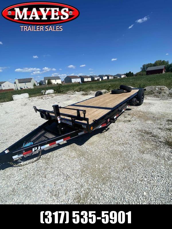 2022 PJ Trailers 1C252 Equipment Trailer - 74x20 (4+16 TA) - 6 Inch Channel Frame - Torsion Axles - 74 Inch Wide Tiltable Deck (GVW:  14000)