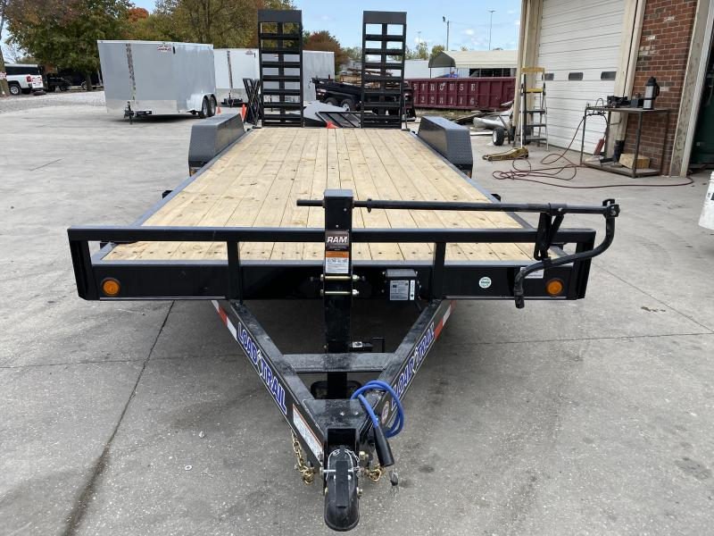 2021 Load Trail XH8320072 Car / Racing Trailer - 83x20 (18+2) TA - Fold Up Ramps - Dovetail - D-Rings - 10K Jack (GVW:  14000)