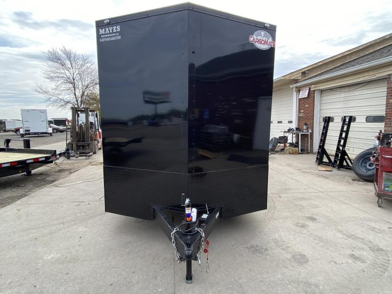 2022 Cargo Mate EHW716TA2 Enclosed Cargo Trailer - 7x16 TA - Ramp Door - Square RV Side Door - 12 Inch Additional Height - Black Out Package (GVW:  7000)