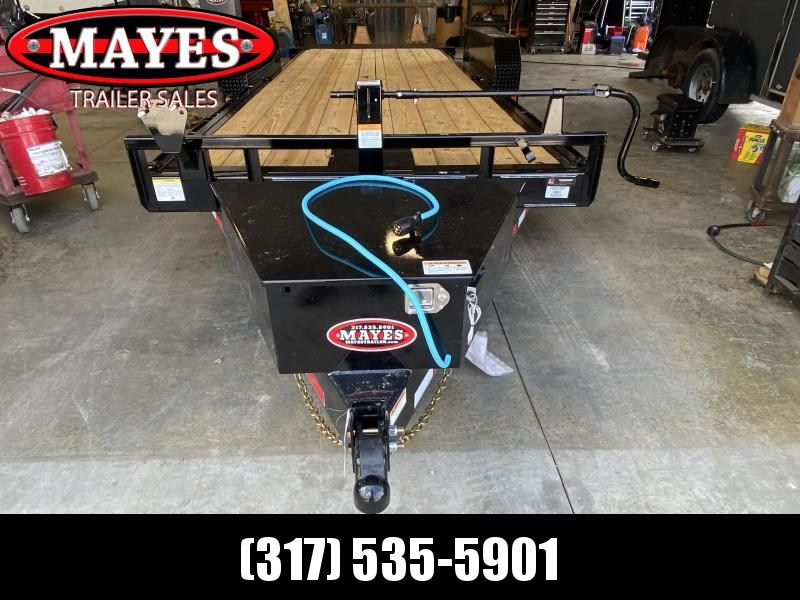 2022 PJ Trailers 1C252 Equipment Trailer (TF202) - 82x20 Full Powered Tilt - Torsion Axles - Plate for Winch - Spare Tire and Wheel - Tool Box (GVW:  14000)
