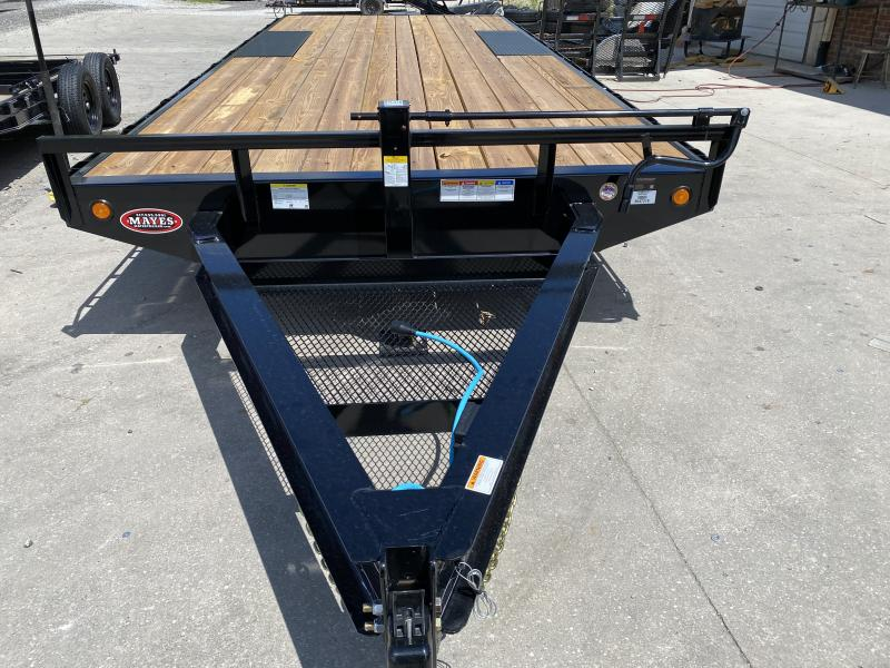 "2021 96x20 PJ Trailers 8"" I-Beam Deckover Trailer - Straight Deck w/ 6'6"" Slide-in Ramps (GVW: 14000)"