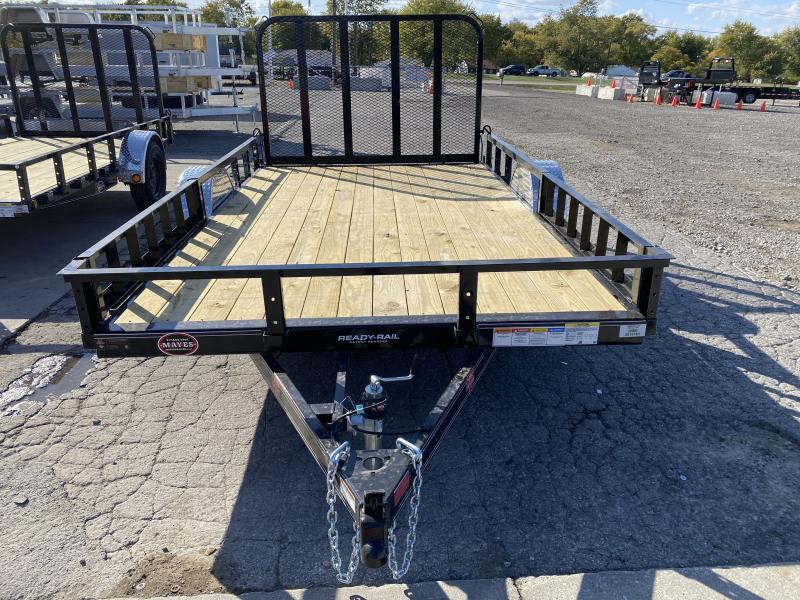 2021 PJ Trailers U8121 Utility Trailer - 83x12 SAUT - Straight Deck - Fold In Gate - ATV Ramps (GVW:  2995)