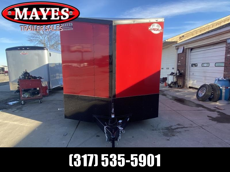2021 Cargo Mate EHW716TA2 Enclosed Cargo Trailer - 7.5x16 TA - Ramp Door - 12 Inch Additional Height - Slant V-Nose - Side by Side Package - Black Out Package (GVW:  7000)