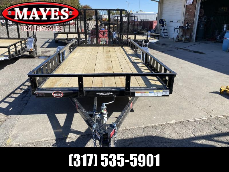 2021 PJ Trailers U7141 Utility Trailer - 77x14 SAUT - Straight Deck - Fold In Gate (GVW:  2995)