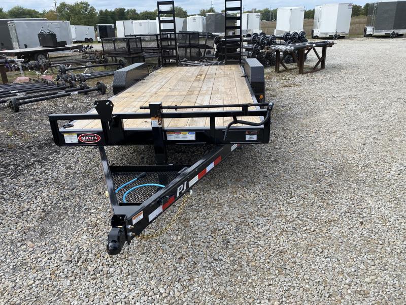 2022 PJ Trailers 1C232 Equipment Trailer - 83X18 TA - 6 Inch Channel Frame - Straight Deck - Fold Up Ramps (GVW:  14000)