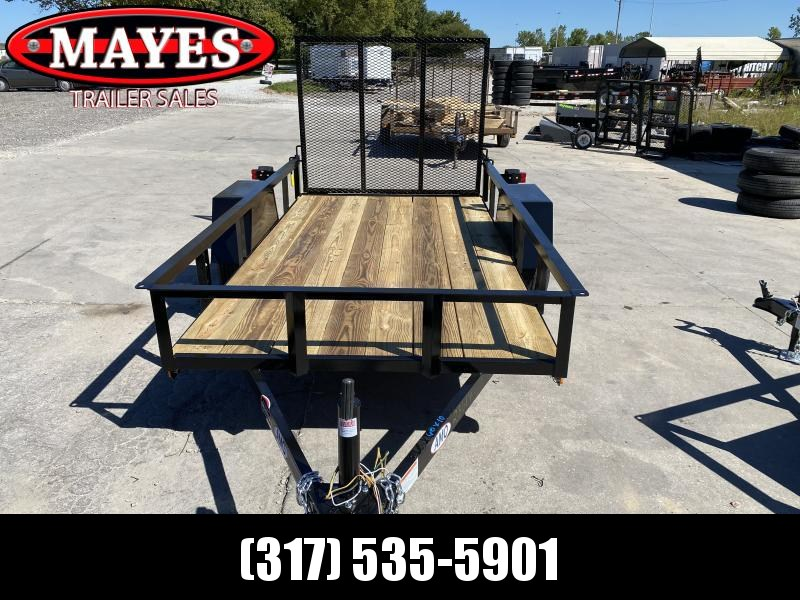 2021 American Manufacturing Operations (AMO) US101 Utility Trailer - 76X10 SA - Tailgate - High Sides - Treated Wood Floor - 15 Inch Tires and Wheels (GVW:  2990)