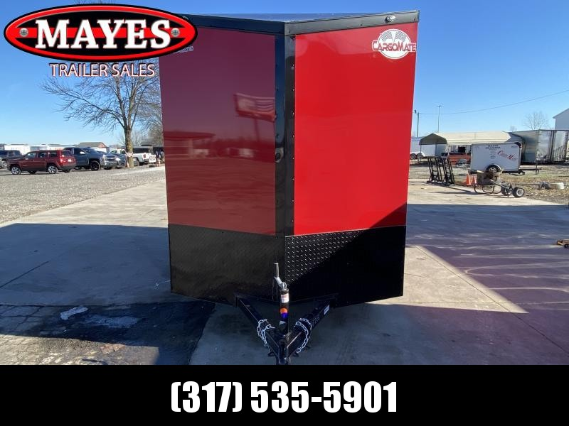 2021 Cargo Mate EHW612SA Enclosed Cargo Trailer - 6.5x12 SA - Ramp Door - Side by Side Package - Black Out Package - D-Rings - 6.5 Wide Body Design Upgrade (GVW:  2990)