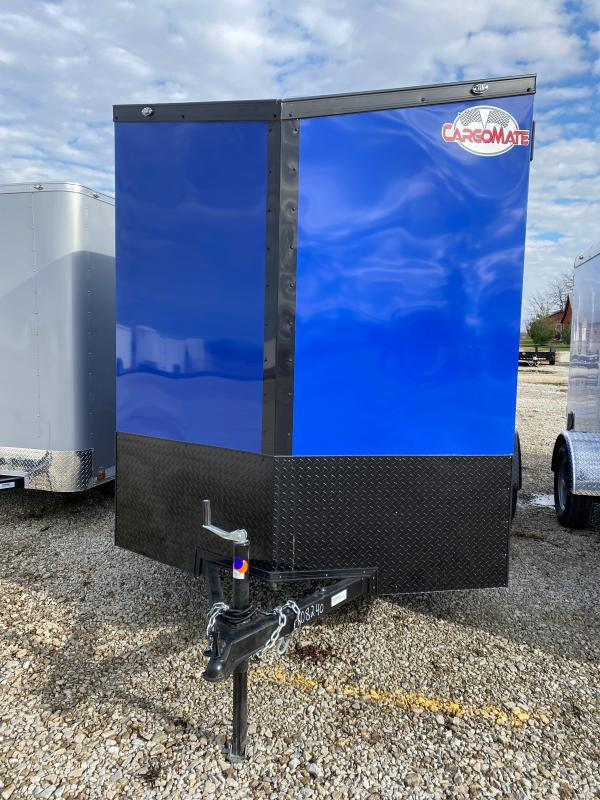 2021 Cargo Mate EHW612SA Enclosed Cargo Trailer - 6x12 SA - Side by Side Package - Black Out Package - Ramp Door - 12 Inch Additional Height (GVW:  2990)