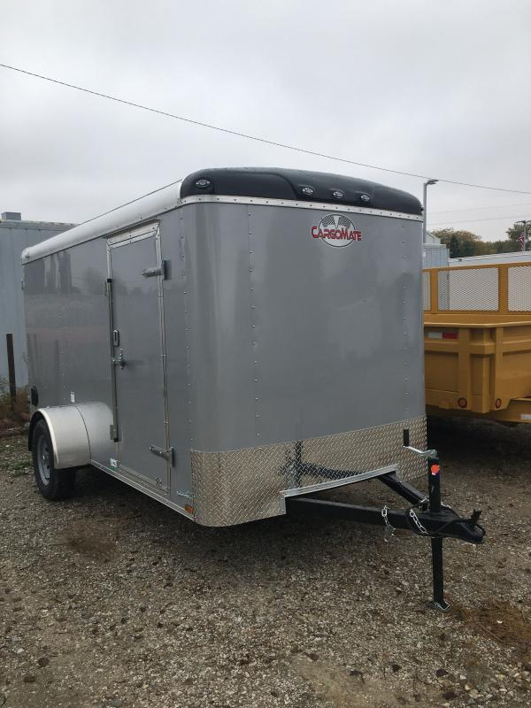 2021 Cargo Mate BL612SA Enclosed Cargo Trailer - 6x12 SA - Double Door with Dual Cambars - Torsion Axle - Alum. Roof (GVW:  2990)