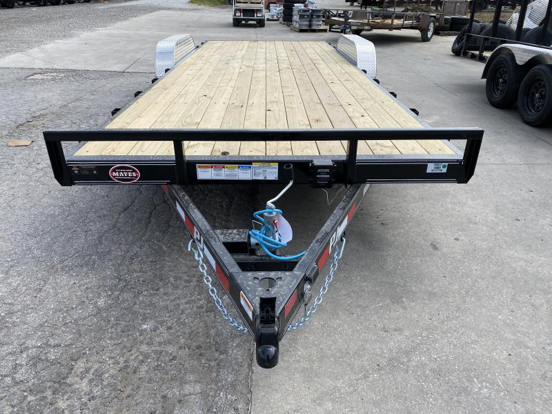 2021 PJ Trailers C5222 Car / Racing Trailer - 83x22 (20+2) TA - Dovetail - Rear Slide In Ramps - 2 Inch Coupler (GVW:  7000)