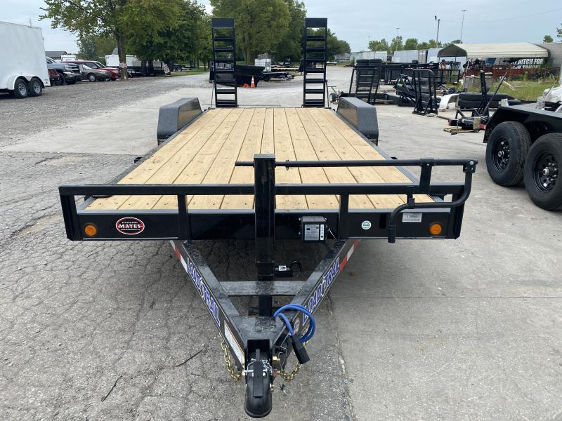 "2021 Load Trail XH8320072 Car / Racing Trailer - 83""x20' (18+2) TA - 6 Inch Channel Frame - DP Fenders - Fold Up Ramps - D-Rings (GVW:  14000)"