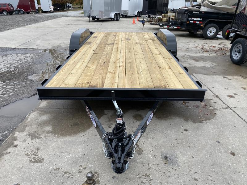 2021 American Manufacturing Operations (AMO) UT182 Utility Trailer - 82x18 (16+2) TA - Slide In Ramps - Electric Brakes - Wrapped Tongue - Dovetail (GVW:  7000)