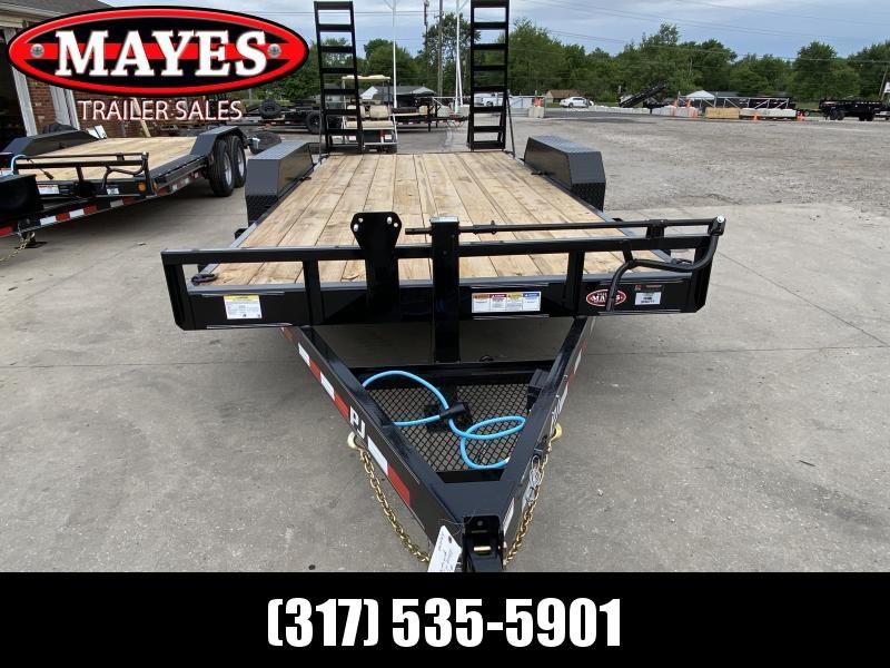 2022 PJ Trailers 1C212 (CC162) Equipment Trailer - 83x16 TA - Straight Deck - Fold Up Ramps - Treated Wood Floor (GVW:  14000)