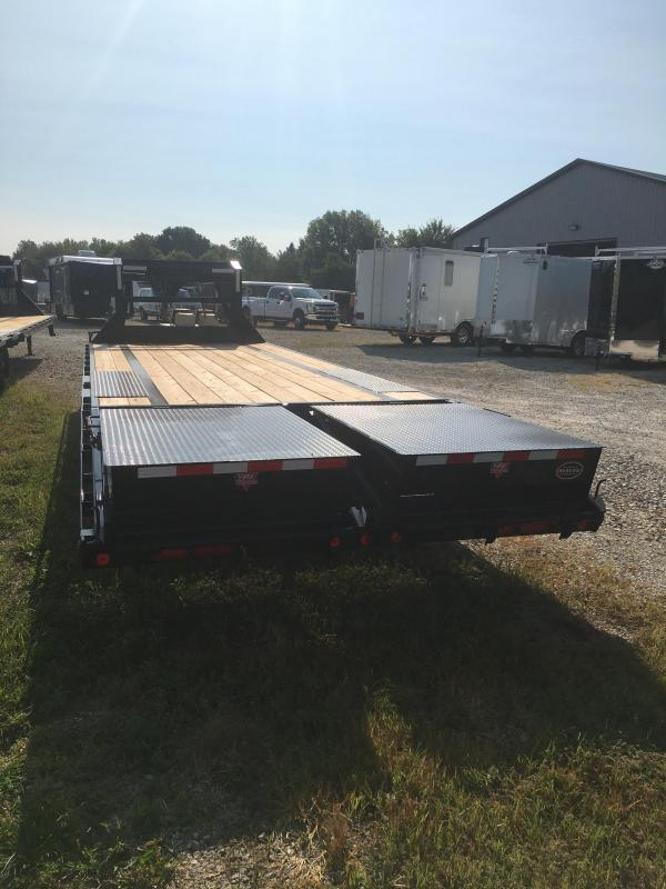 2021 PJ Trailers 25' Low-Pro Flatdeck with Singles Trailer - LS252 102X25 (20+5) - Toolbox - Dovetail - Flip Over Monster Ramps (GVW:  15680)