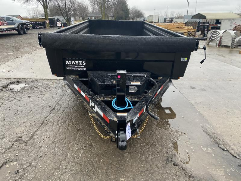 2021 PJ Trailers DL142 Dump Trailer - 83x16 TA Low Pro Dump - Split/Spread Gate - 24 Inch Sides - Spare Tire - Tarp Kit (GVW:  14000)