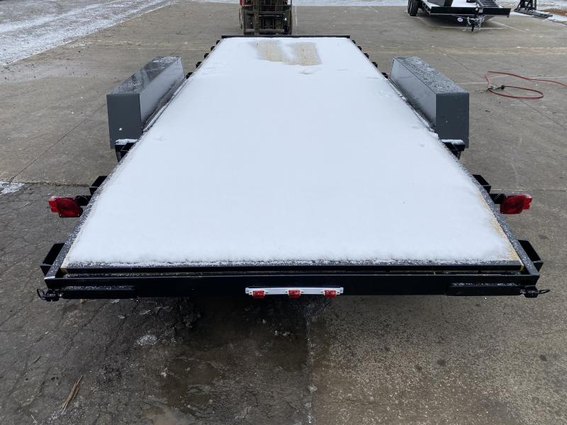 2021 American Manufacturing Operations (AMO) UT202 Utility Trailer - 82x20 (18+2) TA - Treated Wood Floor - Rear Slide In Ramps (GVW:  7000)