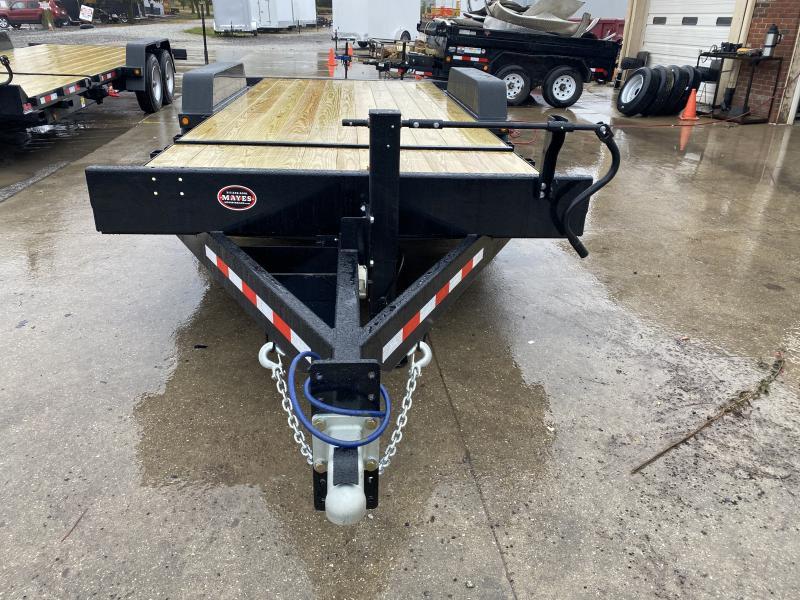 2021 B-B TBCT2016ET Equipment Trailer - 83x20 (4+16) TA Partial Tilt - Torsion Axles - Pallet Fork Holders - Treated Wood Floor (GVW:  16000