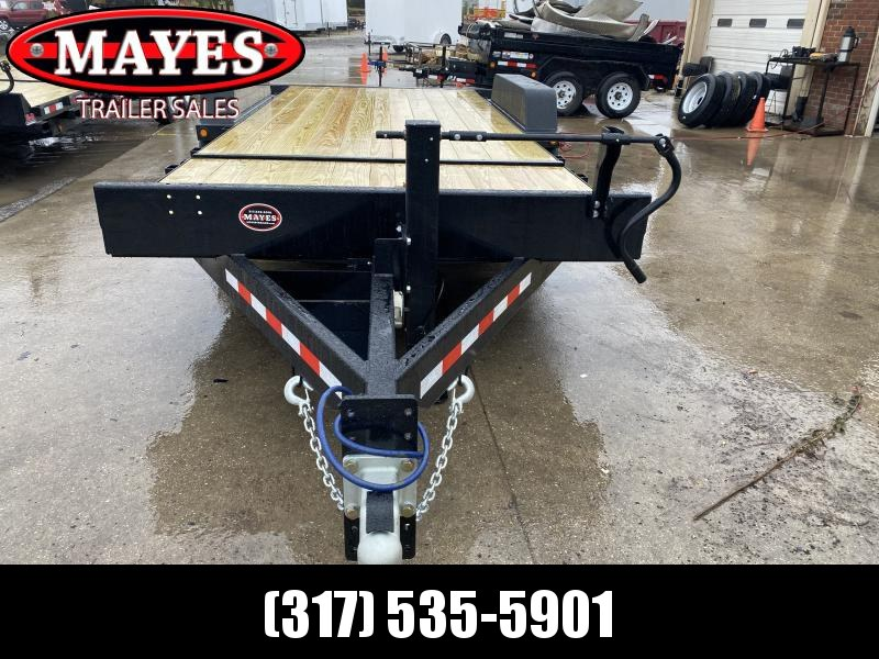 2021 B-B TBCT2016ET Equipment Trailer - 83x20 (4+16) TA Partial Tilt - Torsion Axles - Pallet Fork Holders - Treated Wood Floor (GVW:  16000