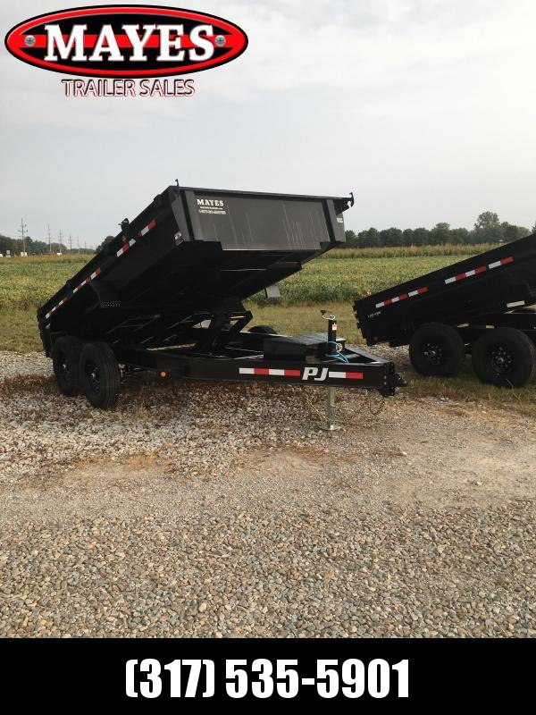 2021 PJ Trailers DG142 Dump Trailer - 83X14 TA Low Pro Dump - Split Gate - Spring Suspension - NO TARP - NO RAMPS (GVW:  14000)