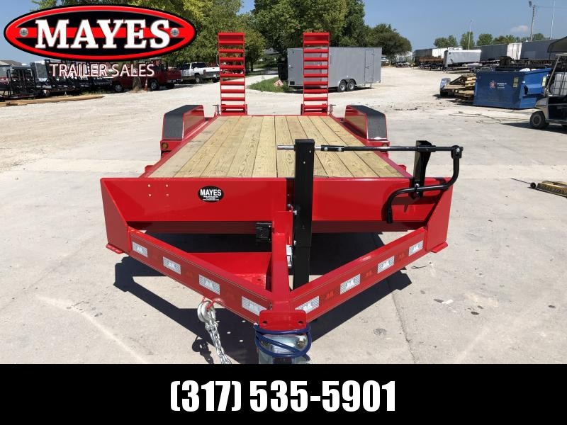 2020 B-B 83x18  (16+2) CBCT2014E-S Equipment Trailer - D-Rings - Flip Up Ramps (GVW:  14000)