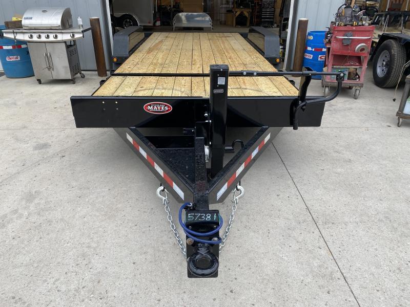 2022 B-B TBCT2014ET Equipment Trailer - 83X20 (4+16) TA Tilt - Pallet Fork Holders - Pintle - D-Rings (GVW:  14000)