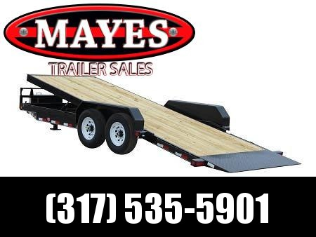 2021 PJ Trailers TF222 Equipment Trailer - 81x22 TA Full Powered Tilt - Torsion Axles - Treated Wood Floor - 81 Inches Between Fenders (GVW:  14000)