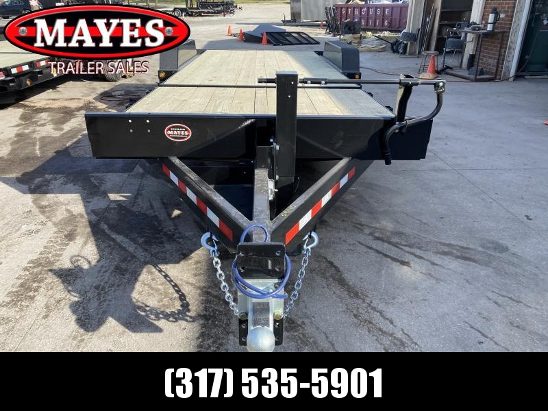 2021 B-B TBCT2216ET Equipment Trailer - 83x22 (6+16) TA Tilt - D-Rings - Torsion Axles - Pallet Fork Holders (GVW:  16000)