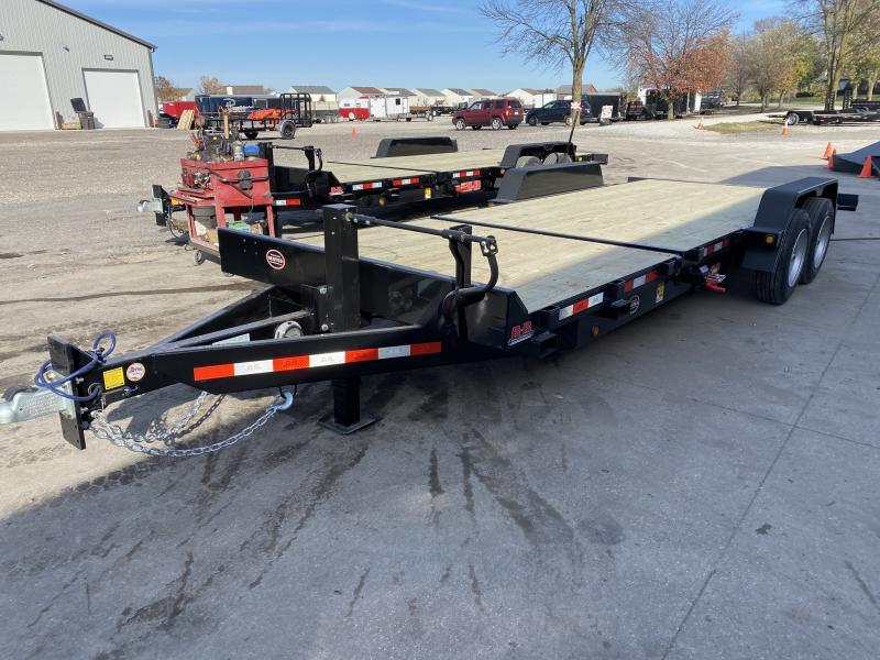 2021 B-B TBCT2216ET Equipment Trailer - 83x22 (6+16) TA Tilt - D-Rings - Torsion Axles - Pallet Fork Holders (GVW:  16000)