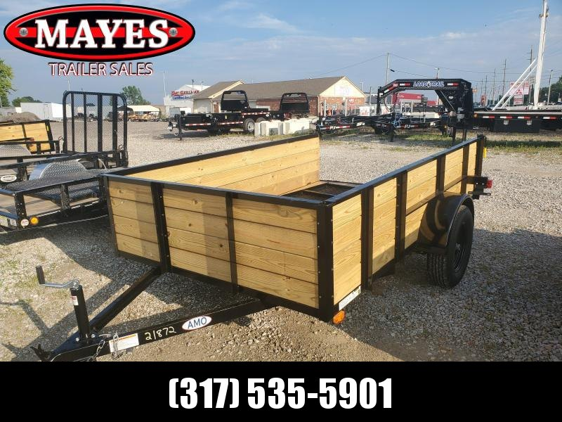 2020 76x10 SA AMO US121 Utility Trailer - High Side - Treated Wood Floor - Tailgate (GVW:  2990)
