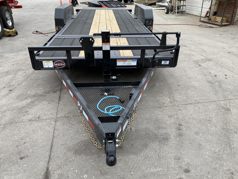 2021 PJ Trailers T6202 Equipment Trailer - 82x20 (4+16) TA - Torsion Axles - Blackwood Pro Outer Deck - Plate for Winch - Roller on Front Deck for Winch Cable (GVW:  14000)
