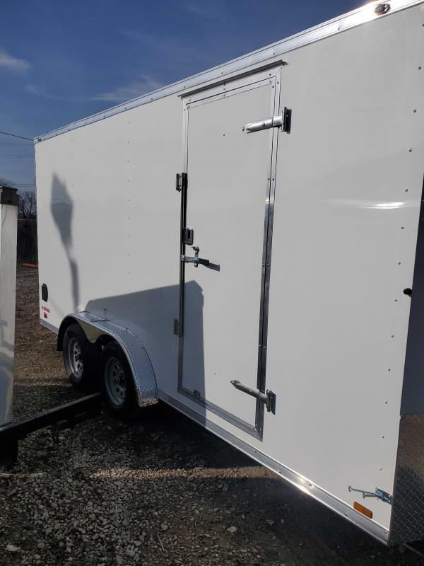 2021 Cargo Mate EHW716TA2 Enclosed Cargo Trailer - 7.5x16 TA - Side by Side Package - 12 Inch Additional Height - Ramp Door - 7.5 Wide Body Design (GVW:  7000)