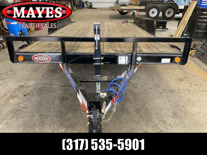 2021 Load Trail CH8316052 Car / Racing Trailer - 83X16 (14+2) TA - Side Slide In Ramps - D-Rings - Drop Leg Jack - Spare Tire MOUNT ONLY (GVW:  9990)