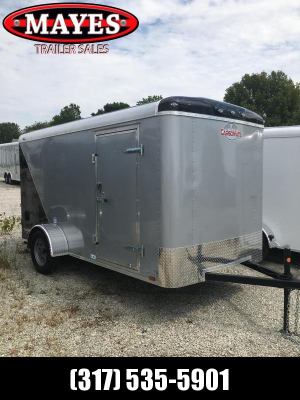 2021 Cargo Mate BL612SA Enclosed Cargo Trailer - 6x12 SA - Ramp Door - Side Door - Torsion - Two Tone (GVW:  2990)