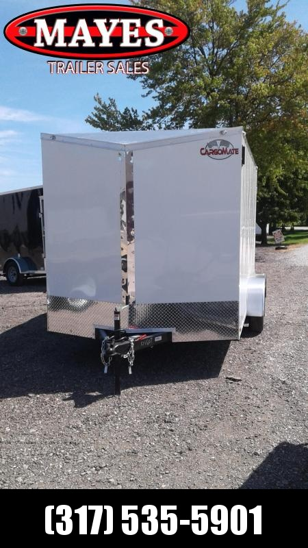 2021 Cargo Mate EHW714TA2 Enclosed Cargo Trailer - 7x14 TA - Double Door - 6 Inch Additional Height - Slant V-Nose (GVW:  7000)