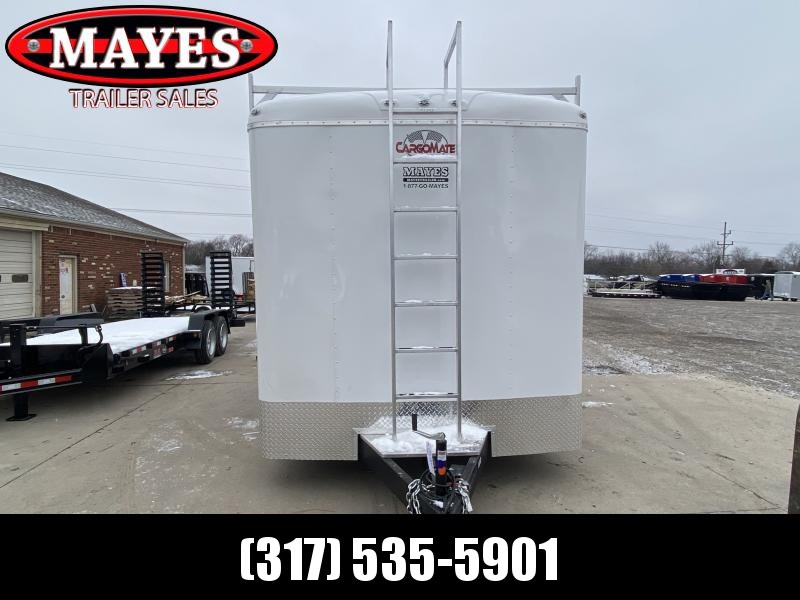 2021 Cargo Mate BL814TA3 Enclosed Cargo Trailer - 8x14 TA - Double Door - Triple Tube Tongue - 12 Inch Additional Height - Ladder Racks - Front Ladder - HD Cage Package (GVW:  (9800)