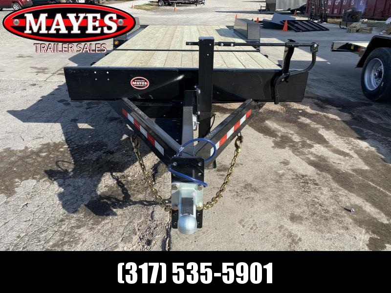 2021 B-B TBCT2220ET-10K Equipment Trailer - 85x22 (6+16) TA Tilt - D-Rings - Pallet Fork Holders - Torsion Axles (GVW:  20000)